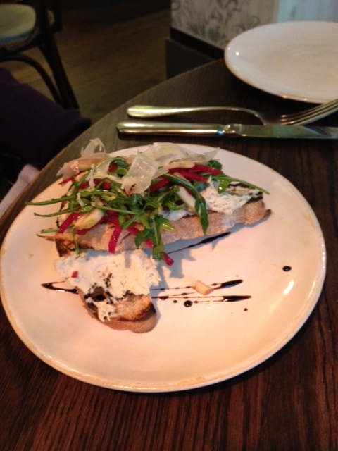 Smoked mackerel bruschetta
